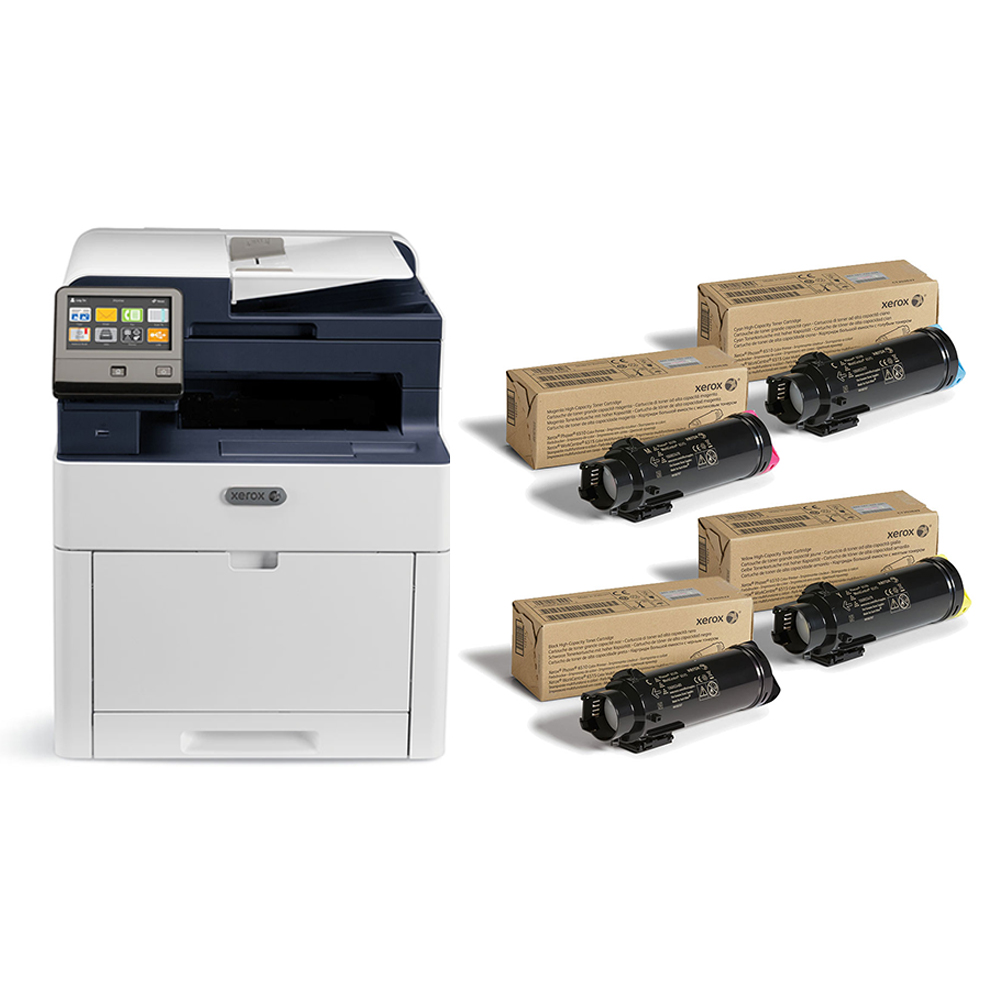 Workcentre 6515 Dn Color All In One Printer With Toner Bundle